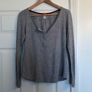 Lucy Gray Henley Long Sleeve Top
